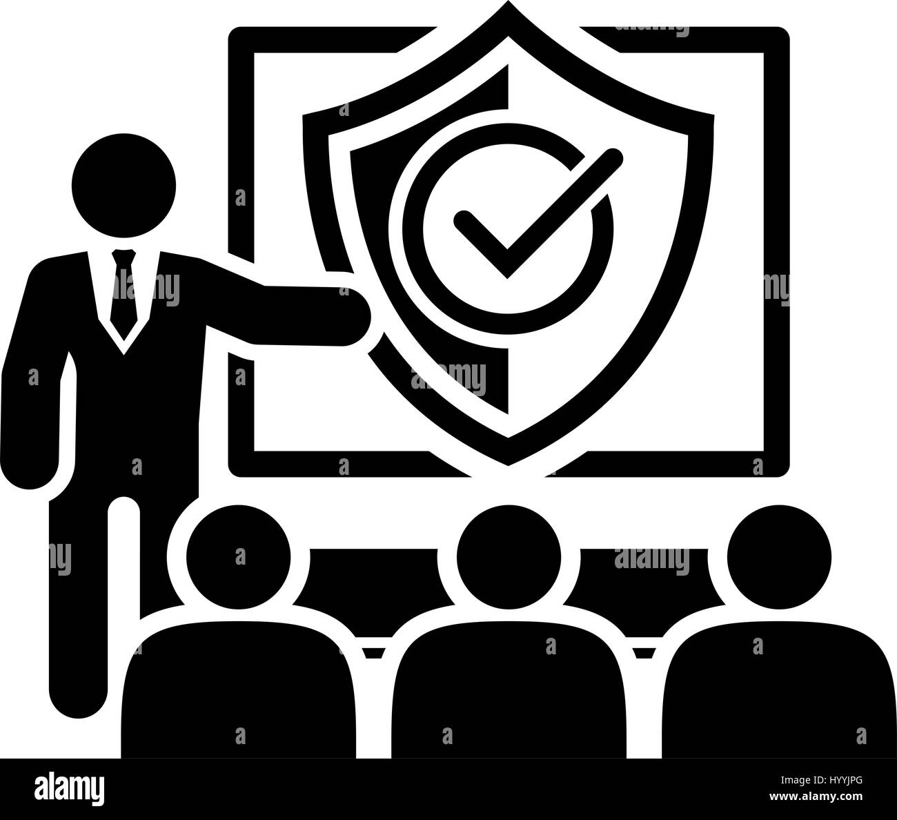 Security Briefing Icon Business Concept Stock Vector Art