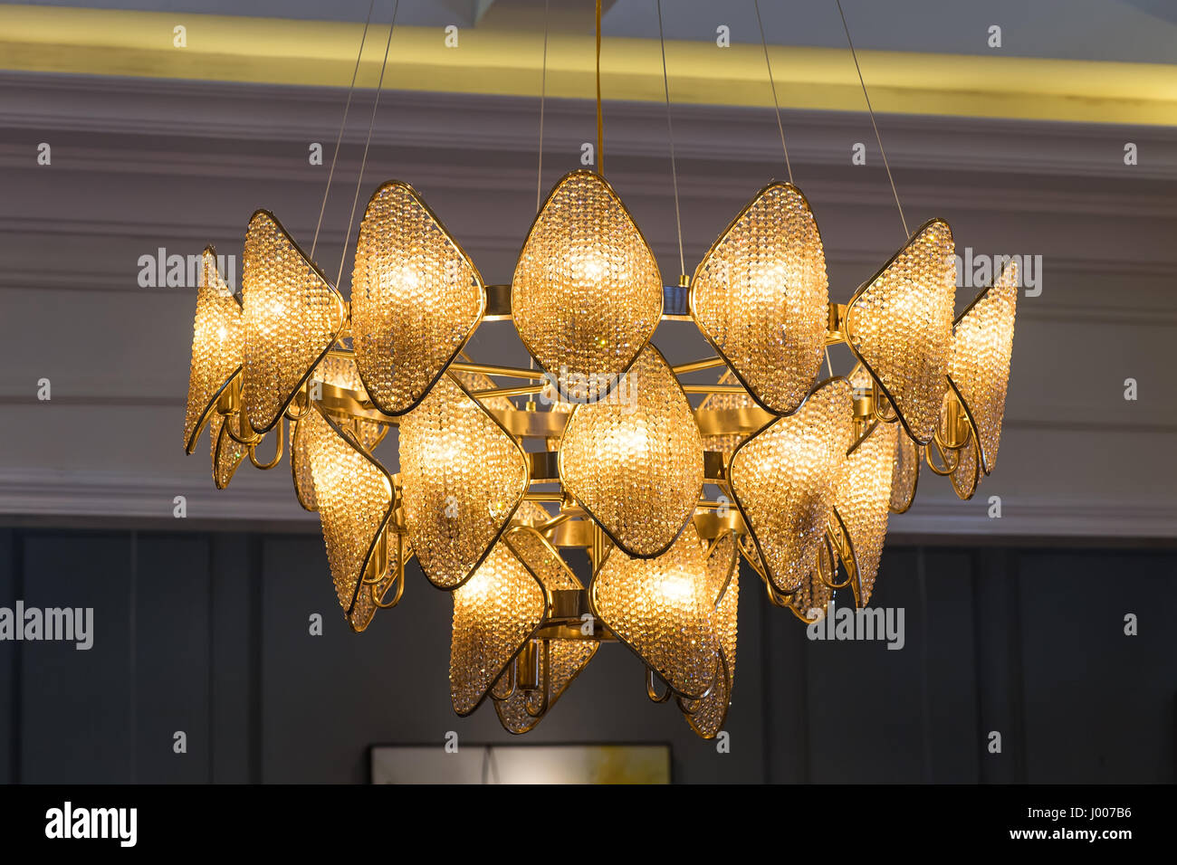 Elegant crystal chandelier stock photo royalty free image elegant crystal chandelier arubaitofo Choice Image
