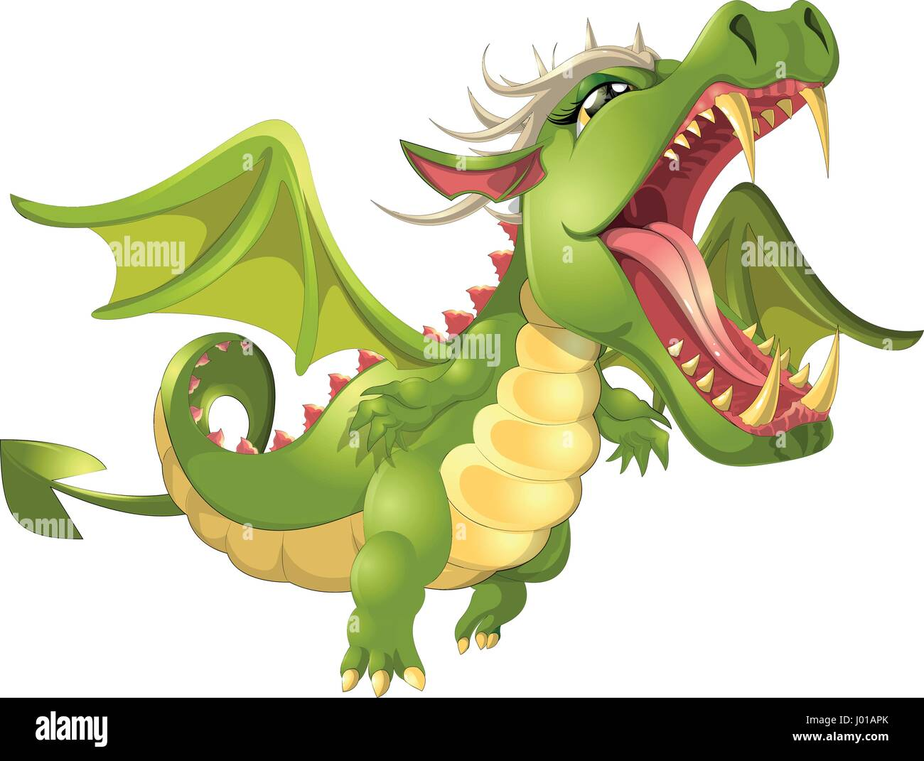 How to breed heraldic dragon - Angry Dragon Cartoon Stock Image
