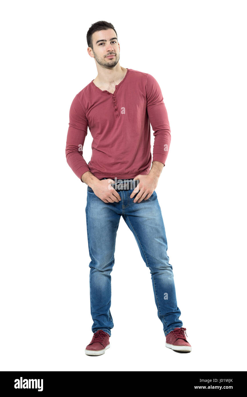 Macho Clothing Co: Cool Young Macho Fashion Male Model Posing And Holding