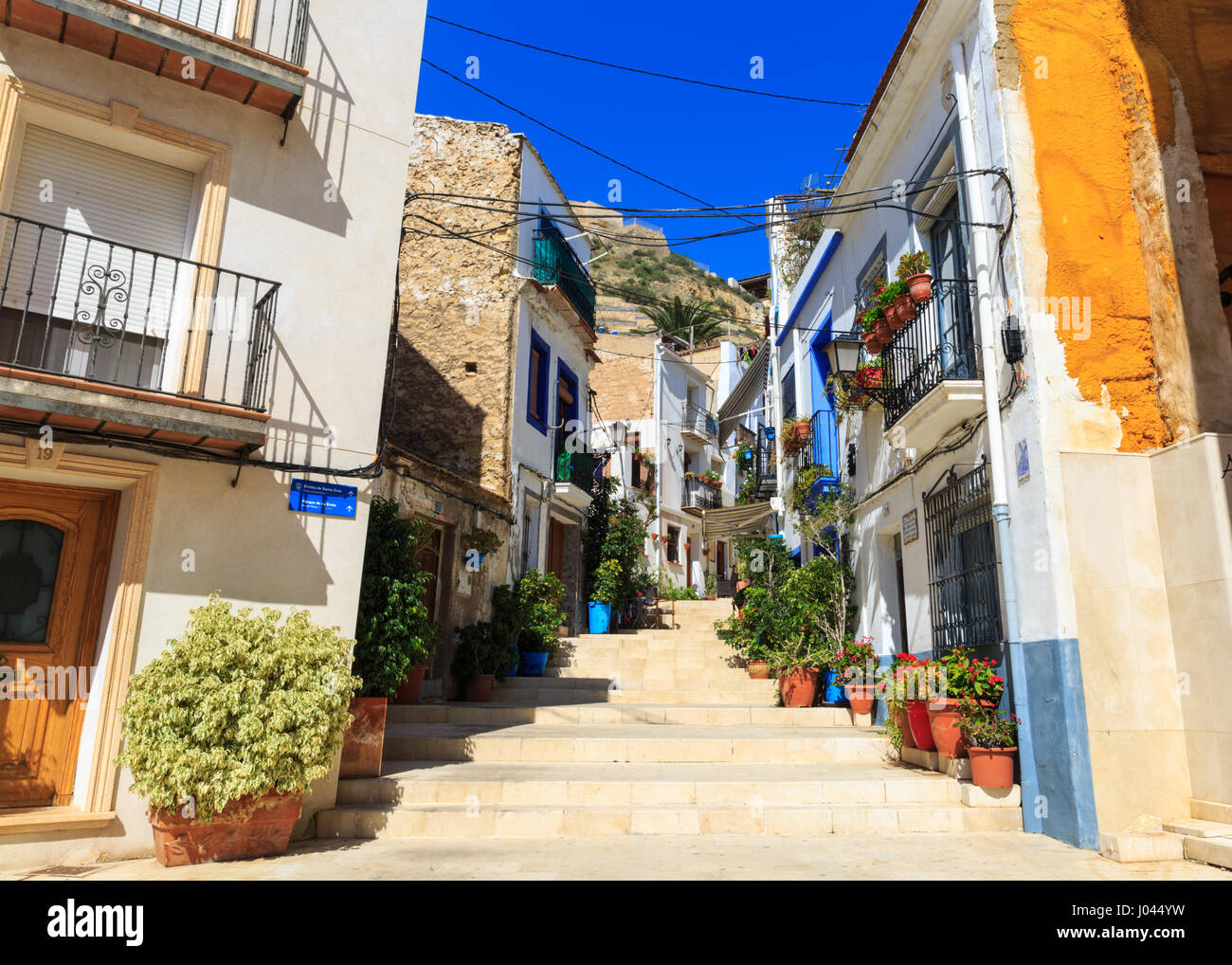 Alicante old town alicante costa blanca spain stock - Stock uno alicante ...