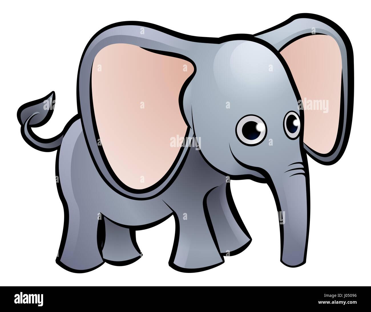 an elephant safari animals cartoon character stock photo royalty