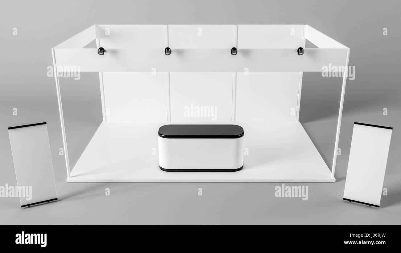 Exhibition Booth En Francais : White creative exhibition stand design booth template