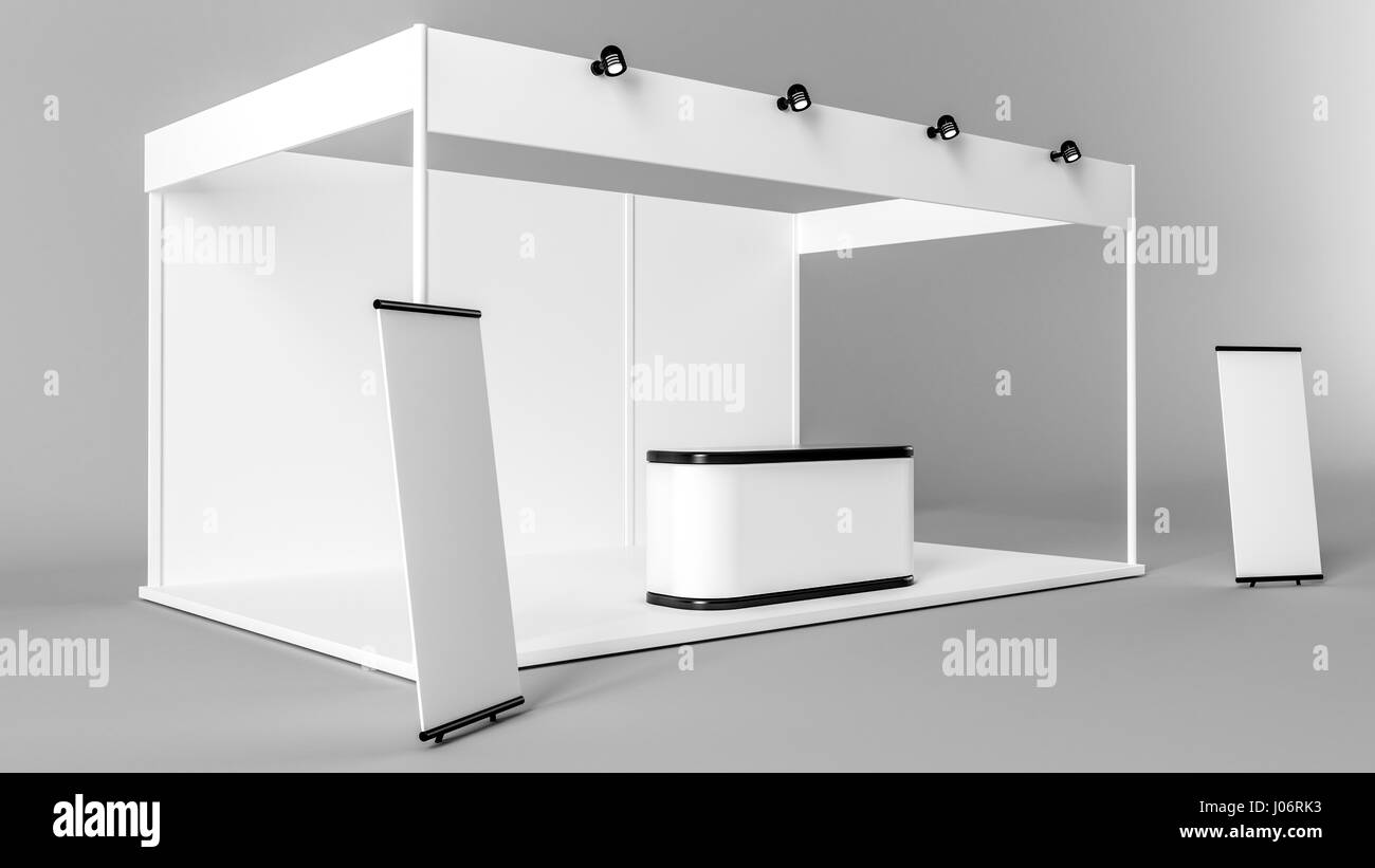 Exhibition Stand Planning Template : White creative exhibition stand design booth template