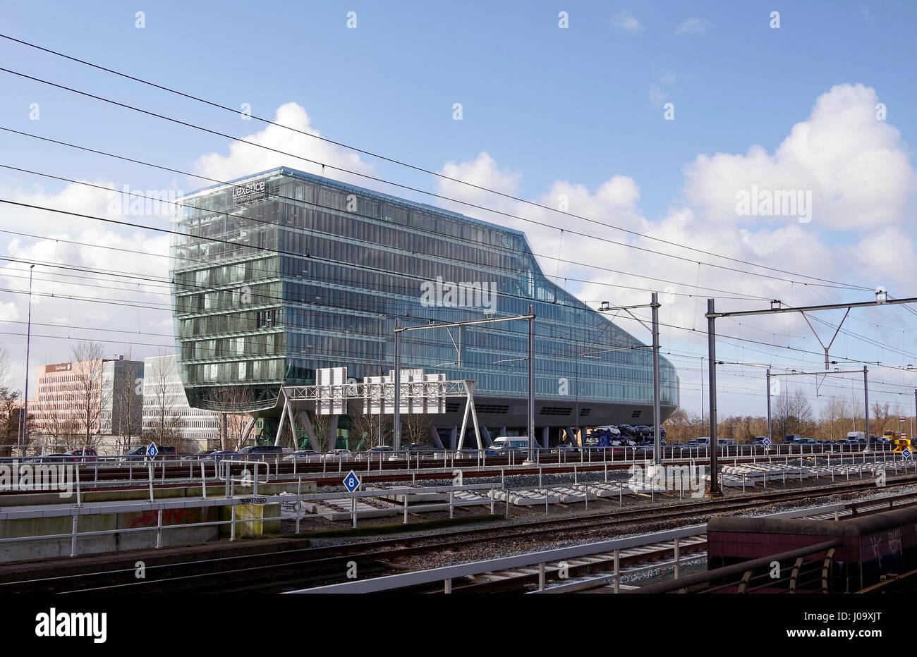 ING House High tech post modern building beside Amsterdam Zuid