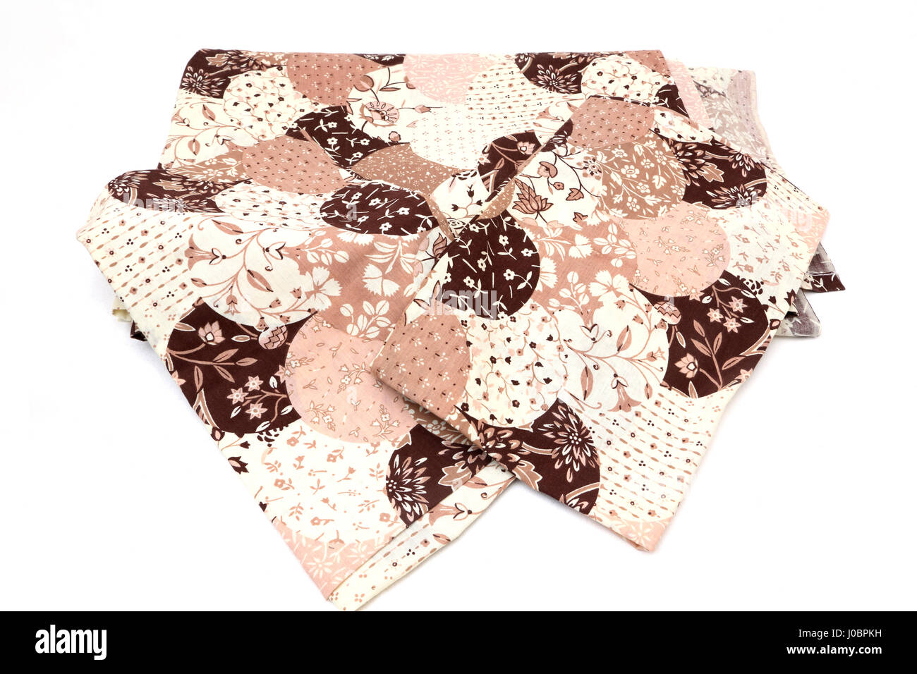 Brown bed sheets texture - Stock Photo Vintage 1960 S Floral Print Bed Sheets Pink Cream And Brown