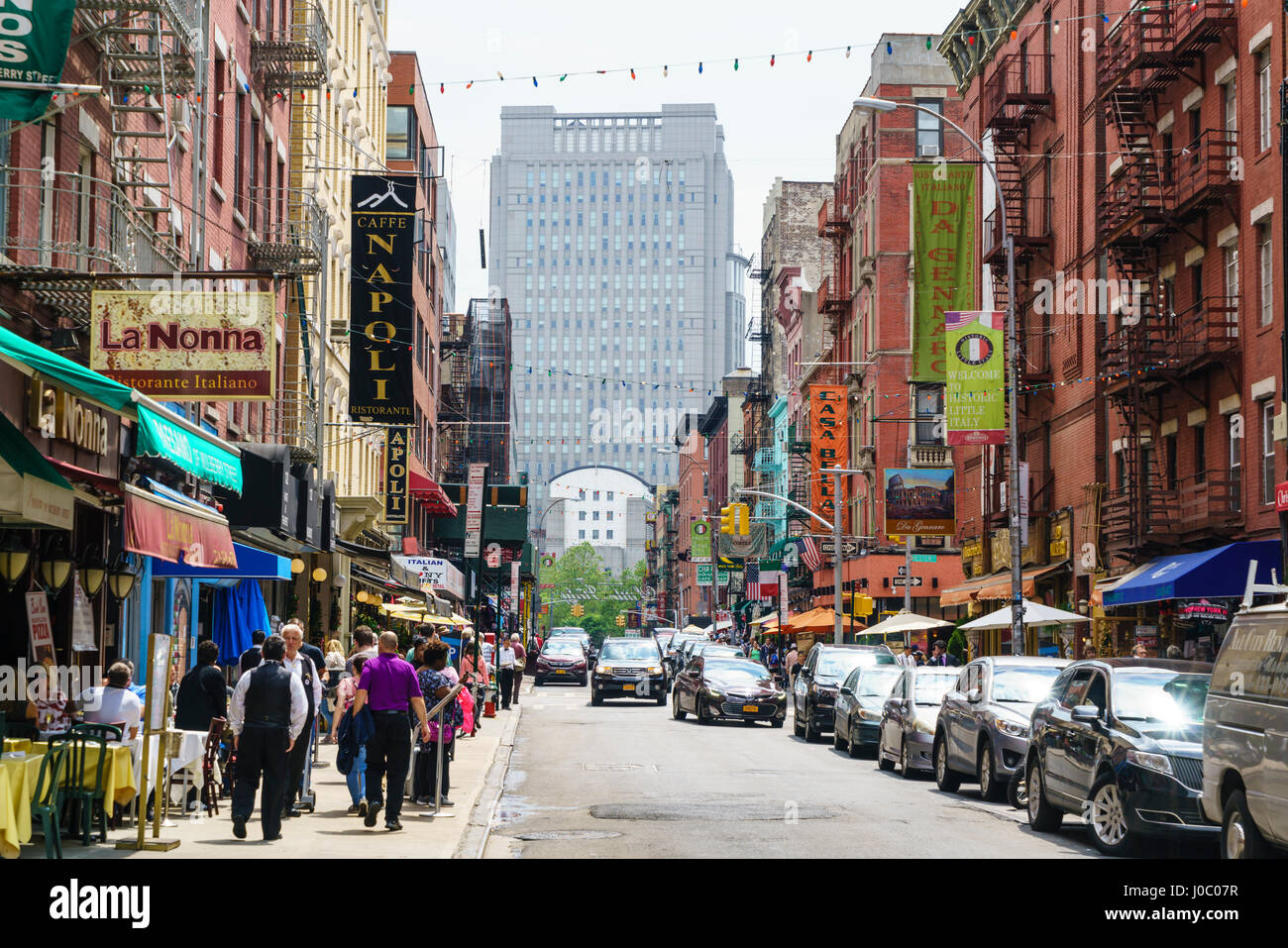 Little Italy, Manhattan, New York City, USA Stock Photo, Royalty Free ...