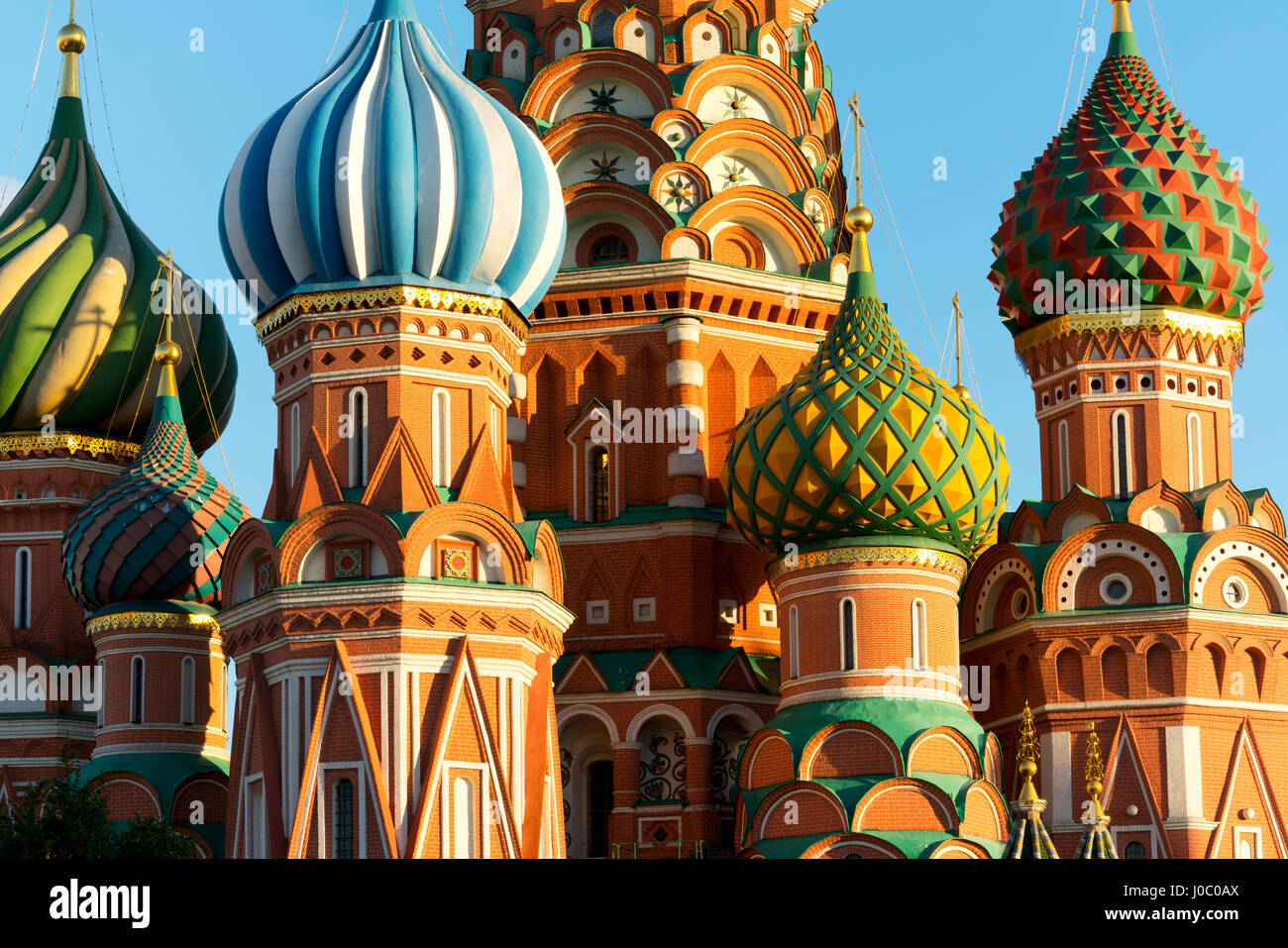 Close-up of the domes of St. Basil\u0027s Cathedral, UNESCO World ...