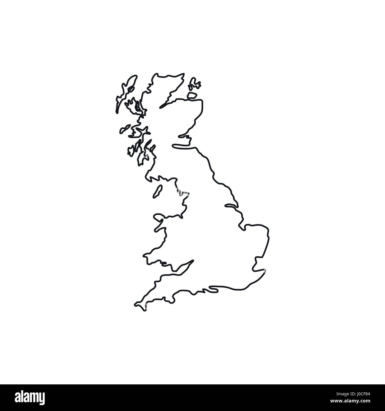 map of great britain icon outline style stock vector art