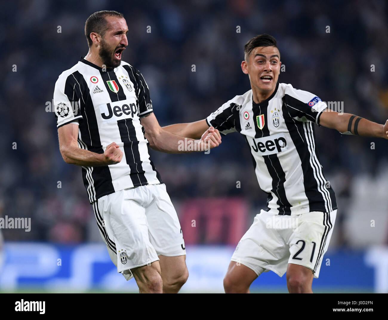 Torin Italy 11th Apr 2017 Juventus Giorgio Chiellini L Stock