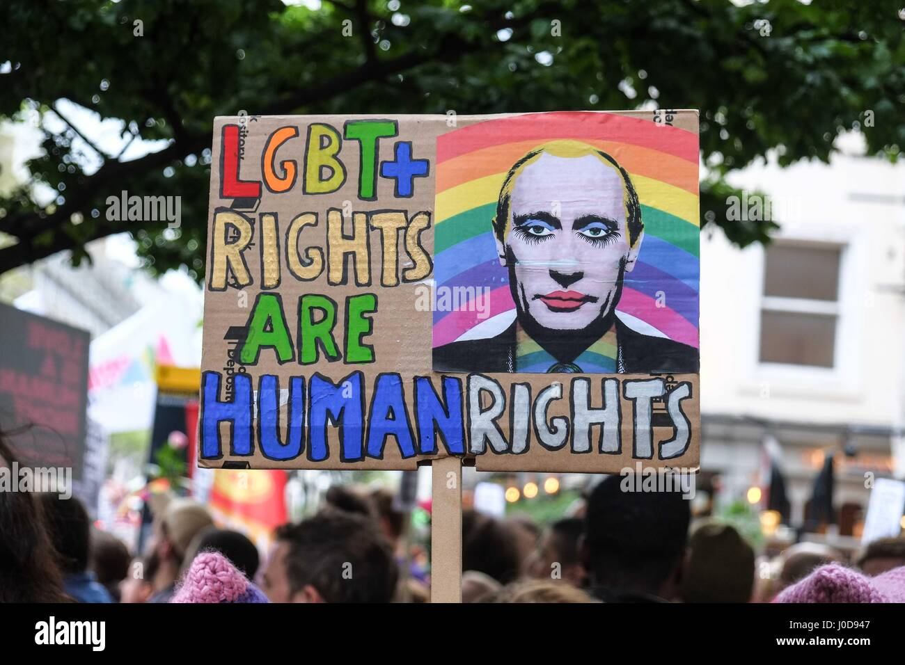 London: 12th April 2017.LGBT Community protest outside the ...