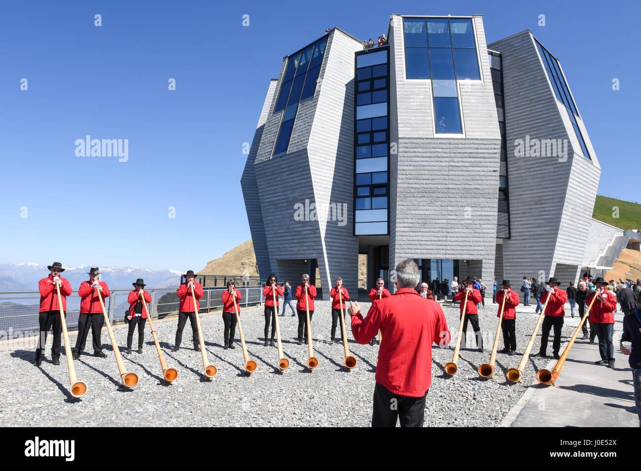 mount generoso, switzerland - 8 april 2017: people playing the
