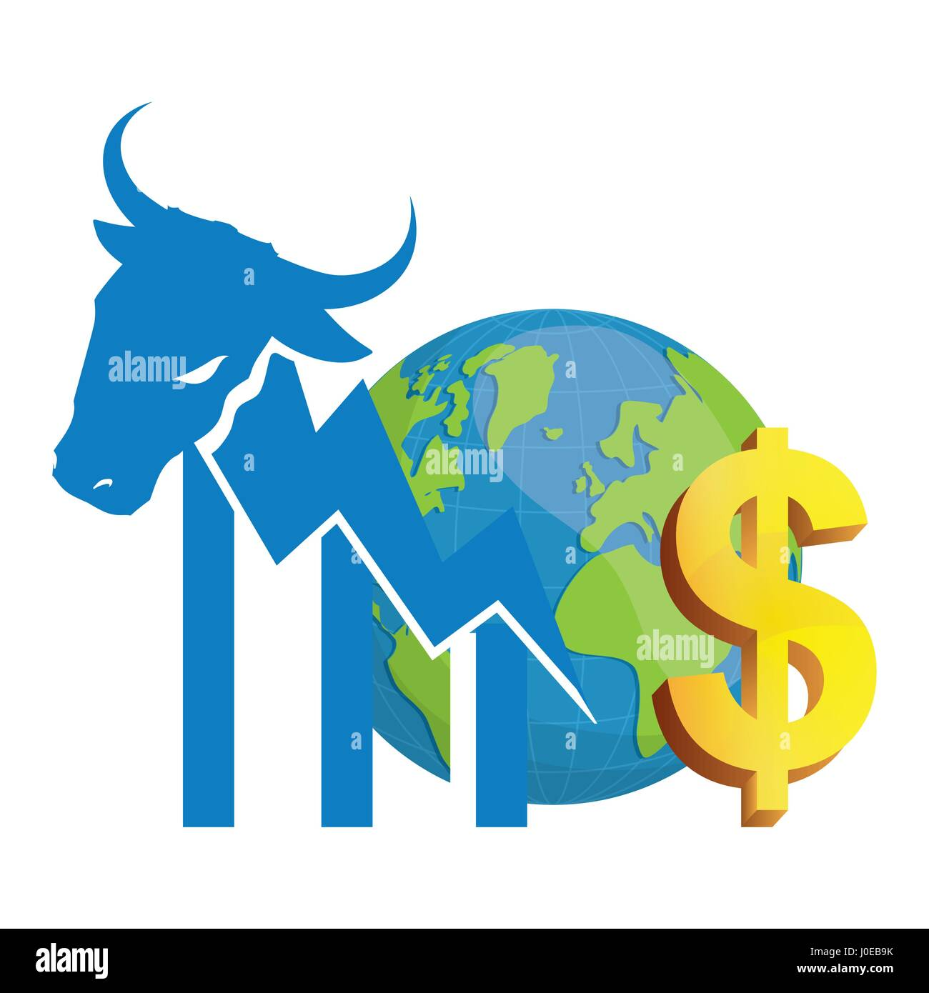 Financial wall street bull world money stock vector art financial wall street bull world money buycottarizona