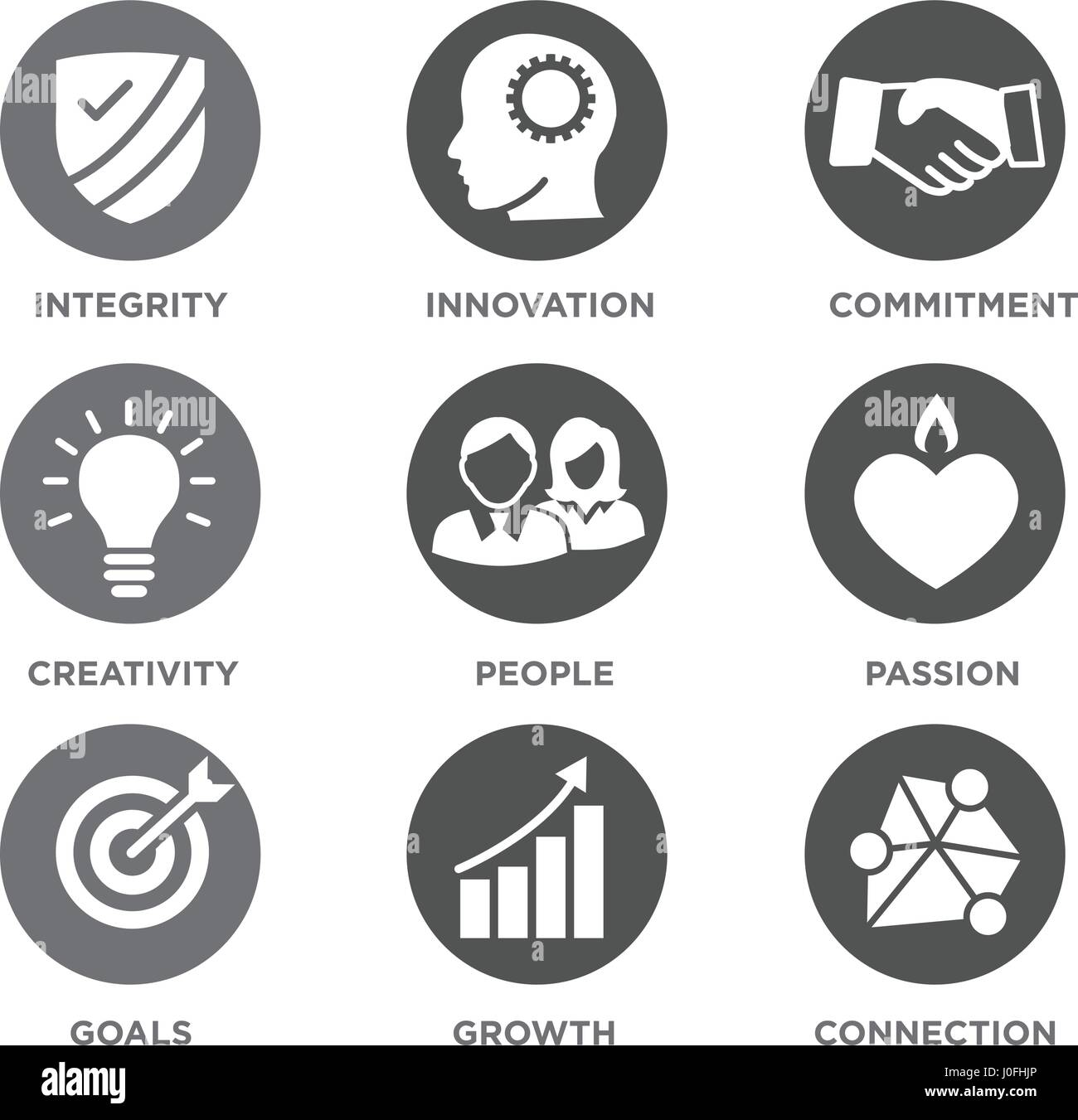 Company core values solid icons for websites or infographics stock company core values solid icons for websites or infographics biocorpaavc Image collections