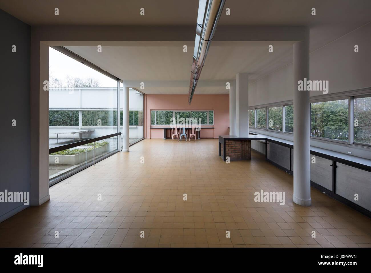 Living room villa savoye at poissy france modernist architectural stock ph - Villa savoye poissy francia ...