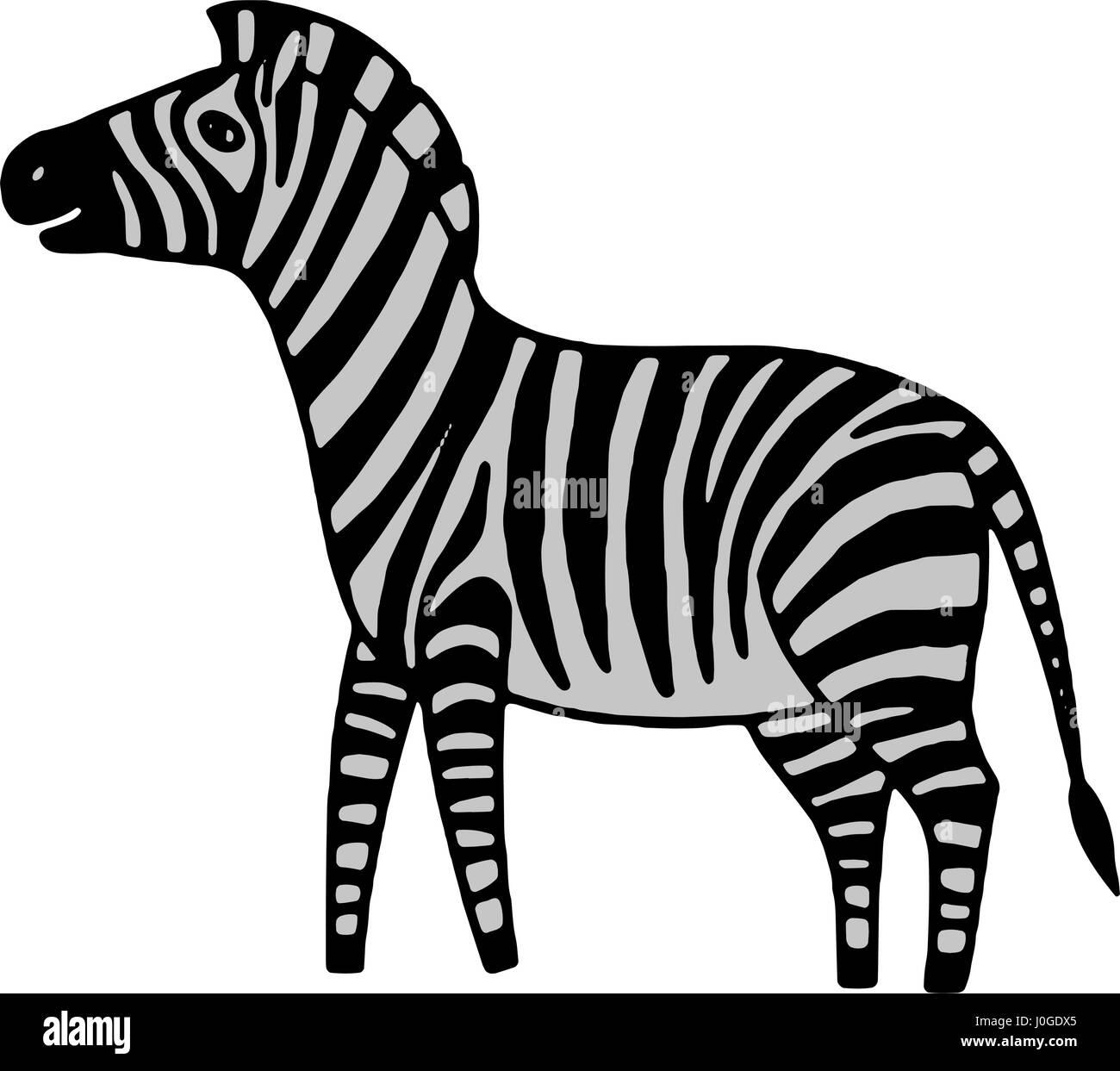 black and white zebra vector illustration stock vector art rh alamy com zebra victor vasarely zebra vector free download