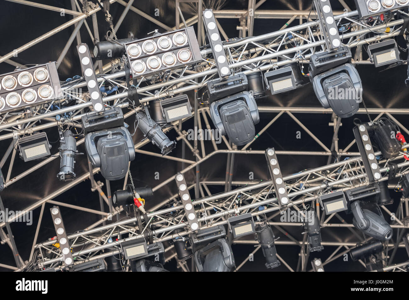 multiple spotlights on a festival stage lighting rig - equipment identifications removed & multiple spotlights on a festival stage lighting rig - equipment ... azcodes.com