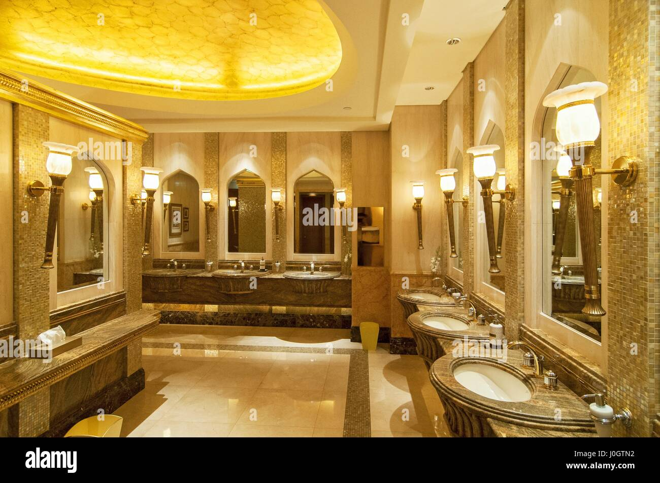 Toilet Decoration In Emirates Palace Hotel A Luxurious And The Most Expensive Star Abu Dhabi Capital City Of United Arab