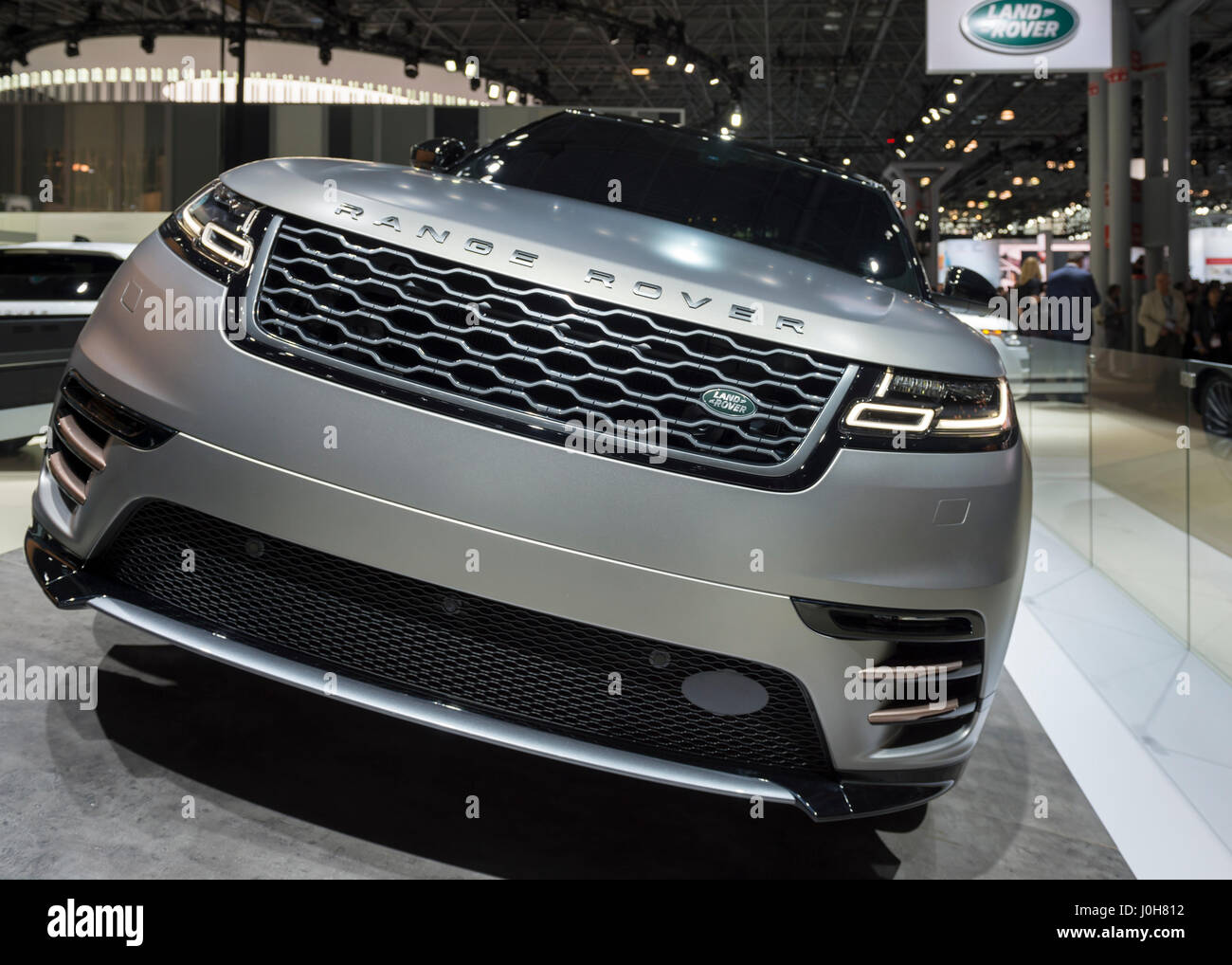 2018 land rover usa. simple land manhattan new york usa april 12 2017 land rover 2018 range  velar medium suv makes its north amerian launch at the york international auto  throughout land rover usa