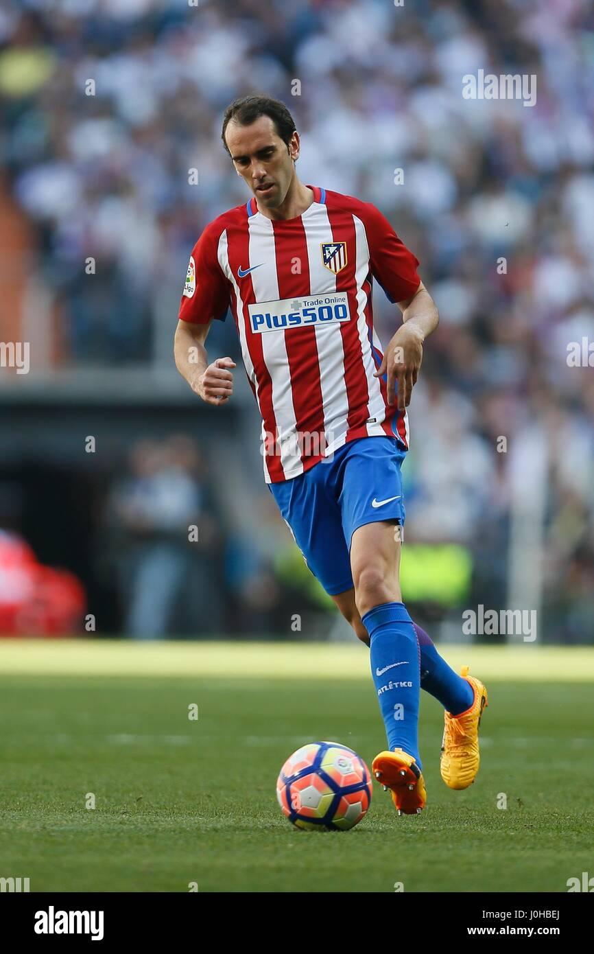 Madrid Spain 8th Apr 2017 Diego Godin Atletico Football