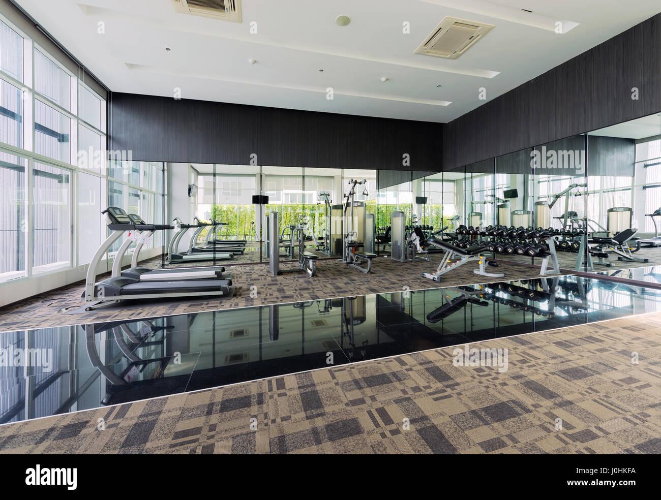 Fitness Center Interior Design Gym Stock Photo Royalty Free Image 138071454 Alamy