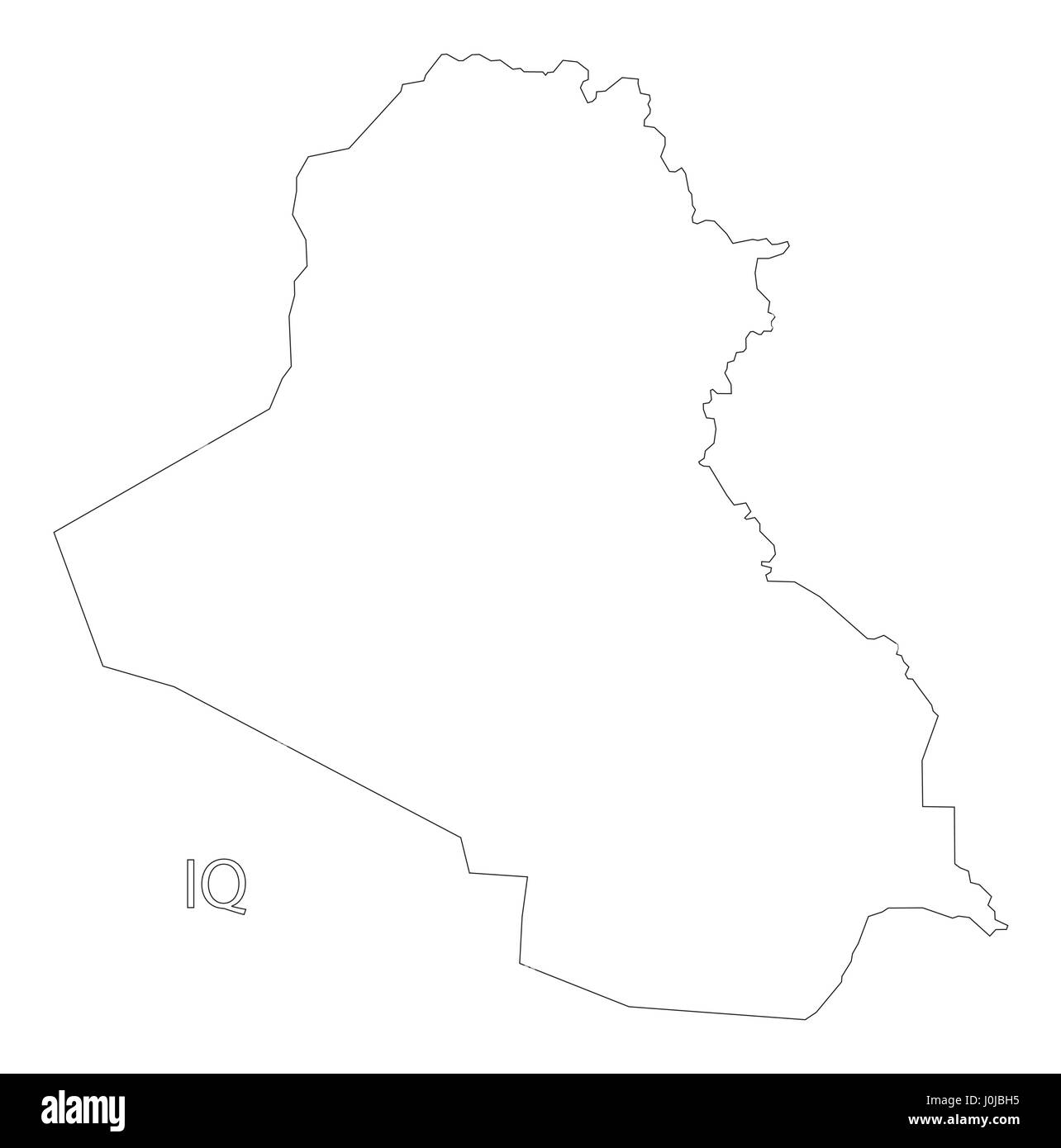Iraq Outline Silhouette Map Illustration Stock Vector Art - Iraq map outline