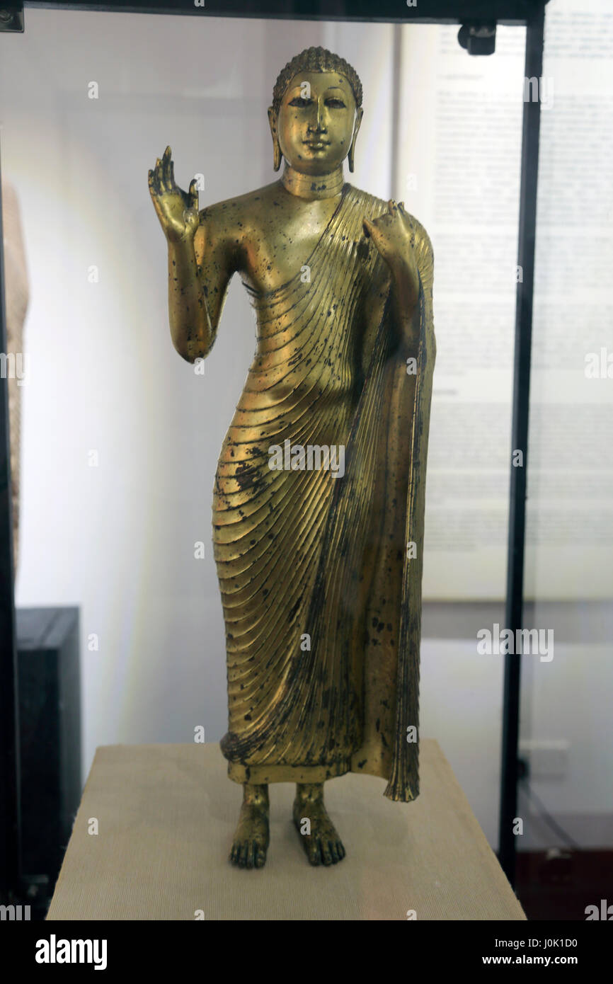 colombo sri lanka national museum statue of bronze standing buddha stock photo royalty free. Black Bedroom Furniture Sets. Home Design Ideas