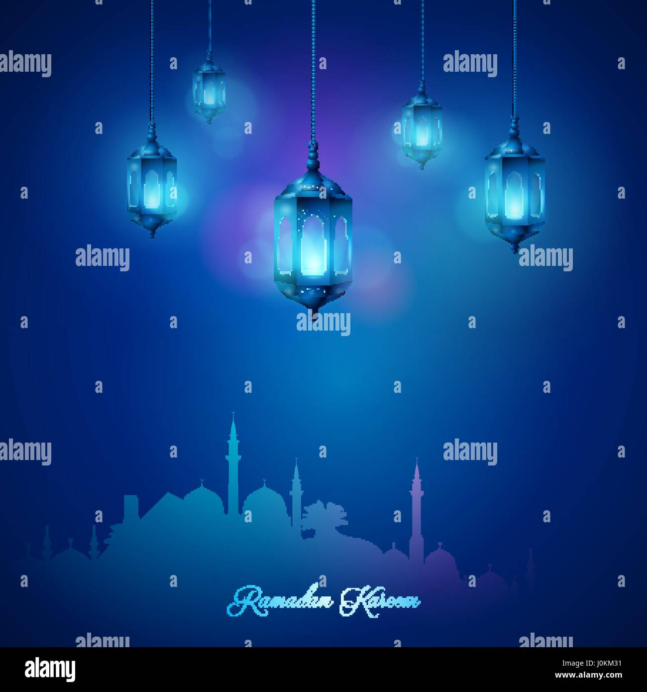 Mosque background for ramadan kareem stock photography image - Arabic Lamp And Mosque Islamic Celebration Greeting Background Ramadan Kareem