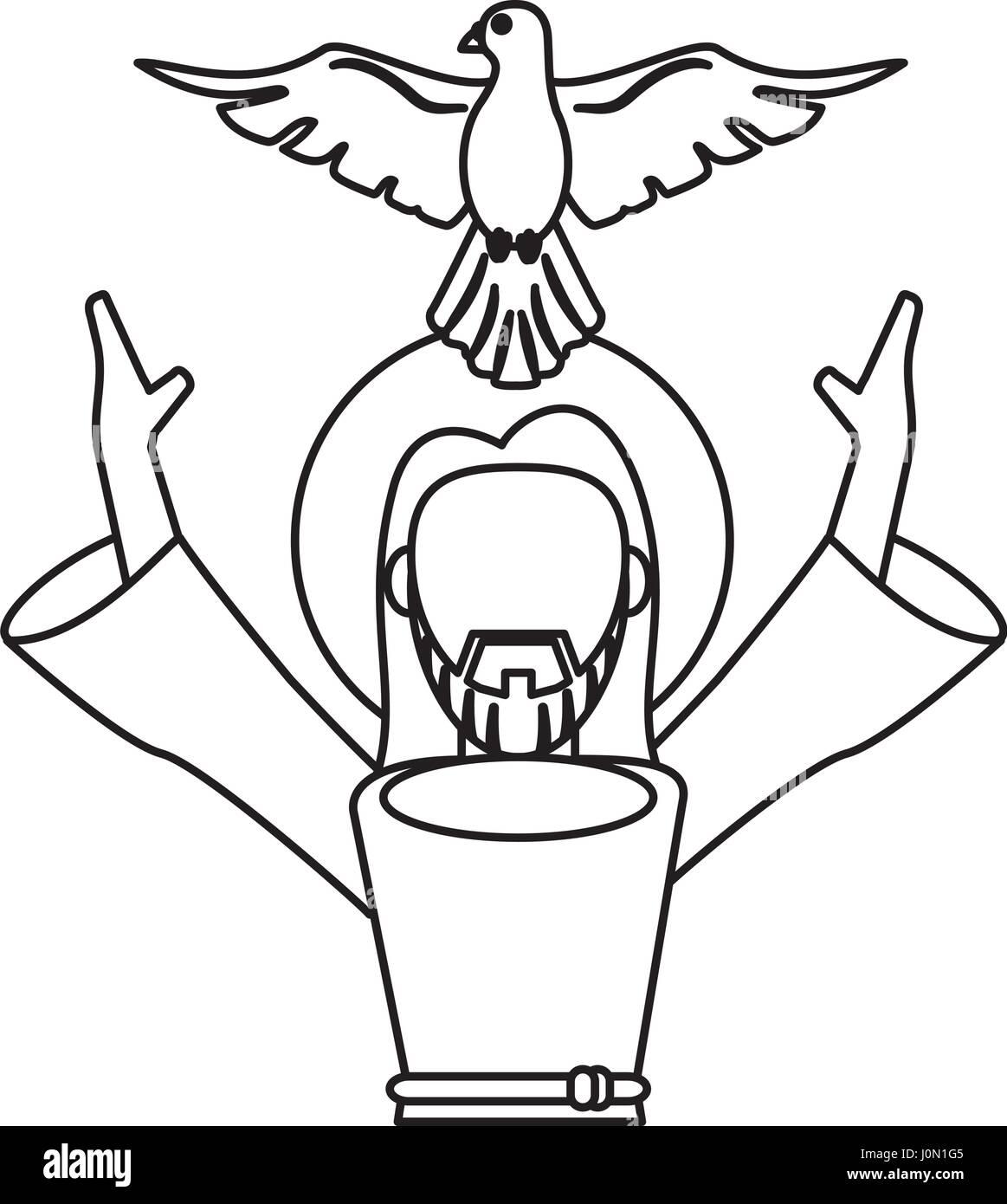 Jesus christ holy spirit catholic symbol outline stock vector art jesus christ holy spirit catholic symbol outline buycottarizona Image collections