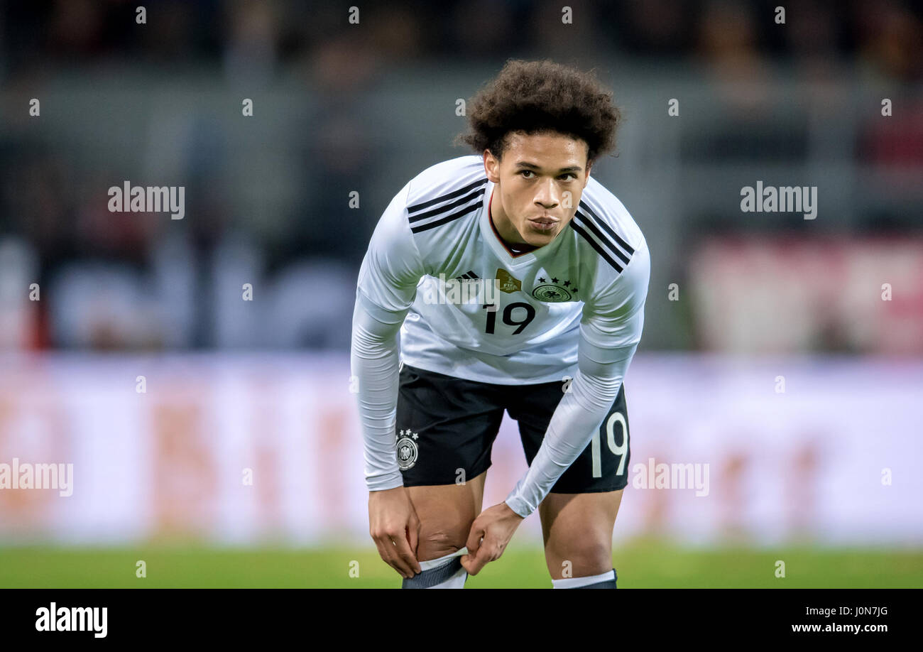 Germany s Leroy Sane in action during the national soccer match