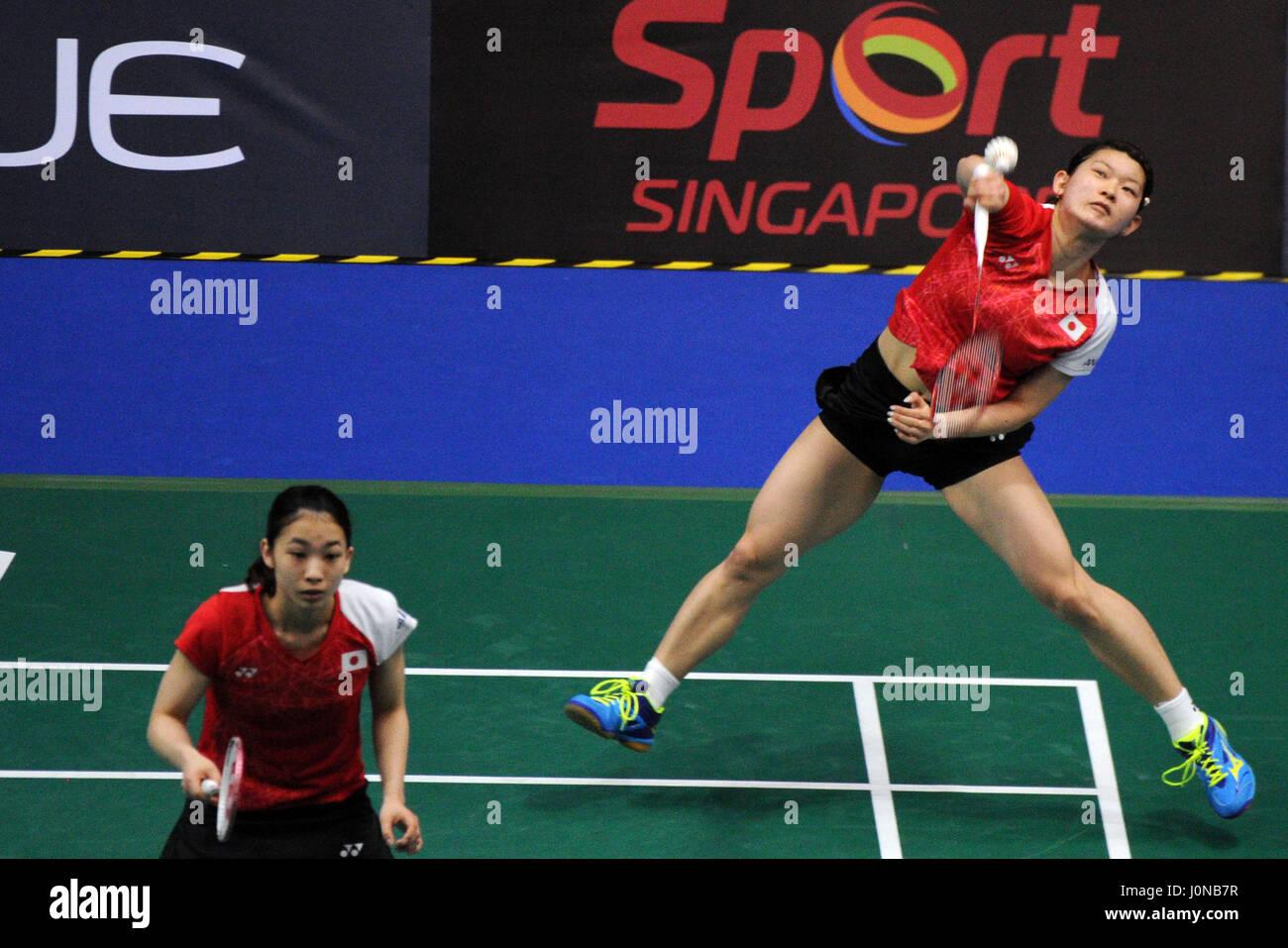 Singapore 15th Apr 2017 Japan s Misaki Matsutomo Ayaka