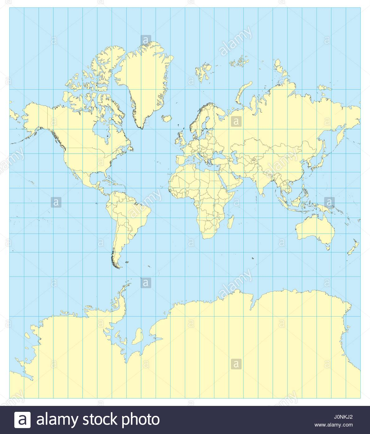 Very High Detailed Map Of The World In Mercator Projection With - Map of the world detailed