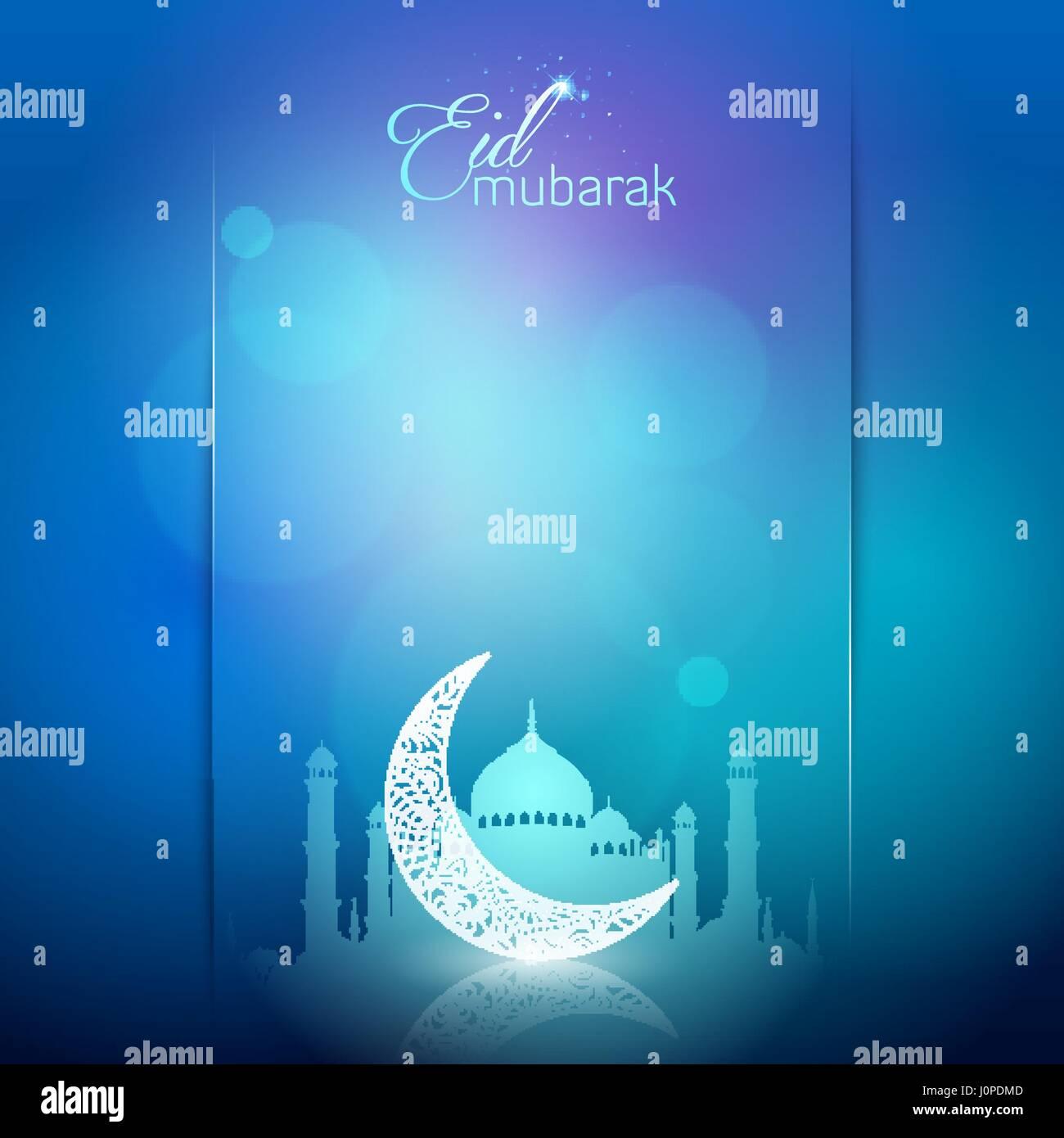 Eid mubarak greeting card background arabic calligraphy with floral eid mubarak greeting card background arabic calligraphy with floral crescent kristyandbryce Choice Image