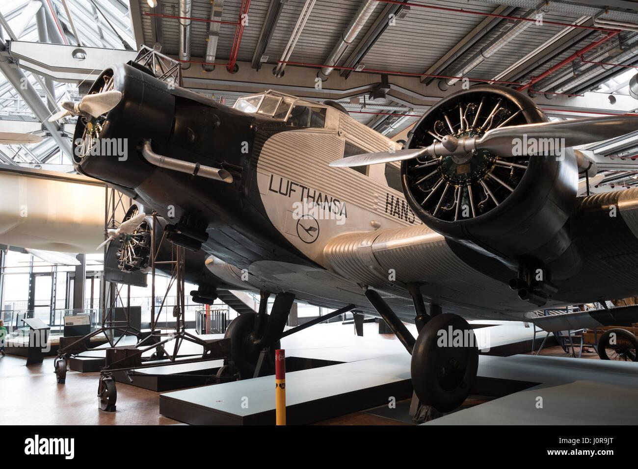 Junkers Berlin junkers ju 52 on display at deutsches technikmuseum german museum of stock photo royalty free