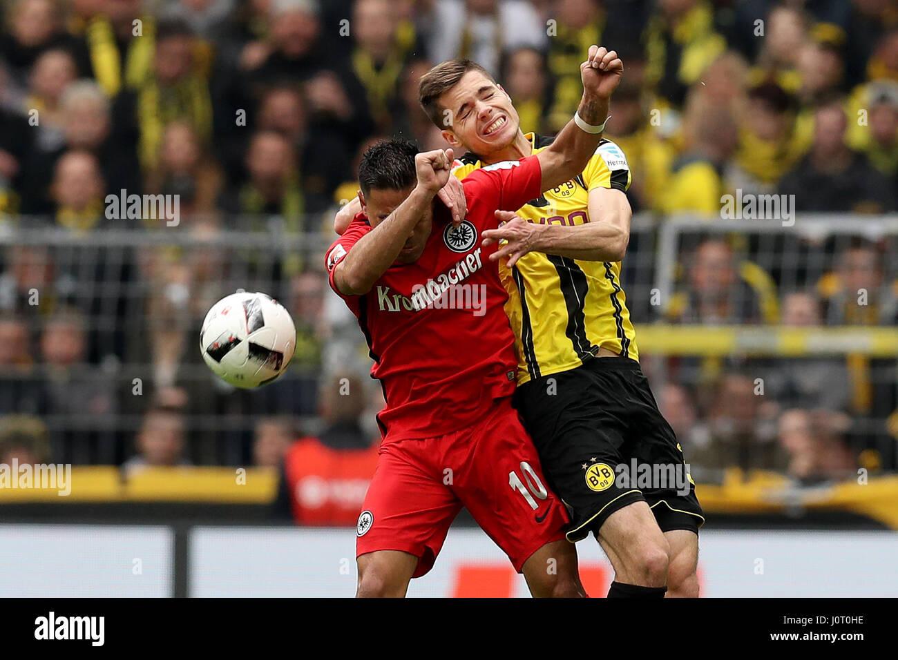 Dortmund 15th Apr 2017 Julian Weigl R of Borussia Dortmund