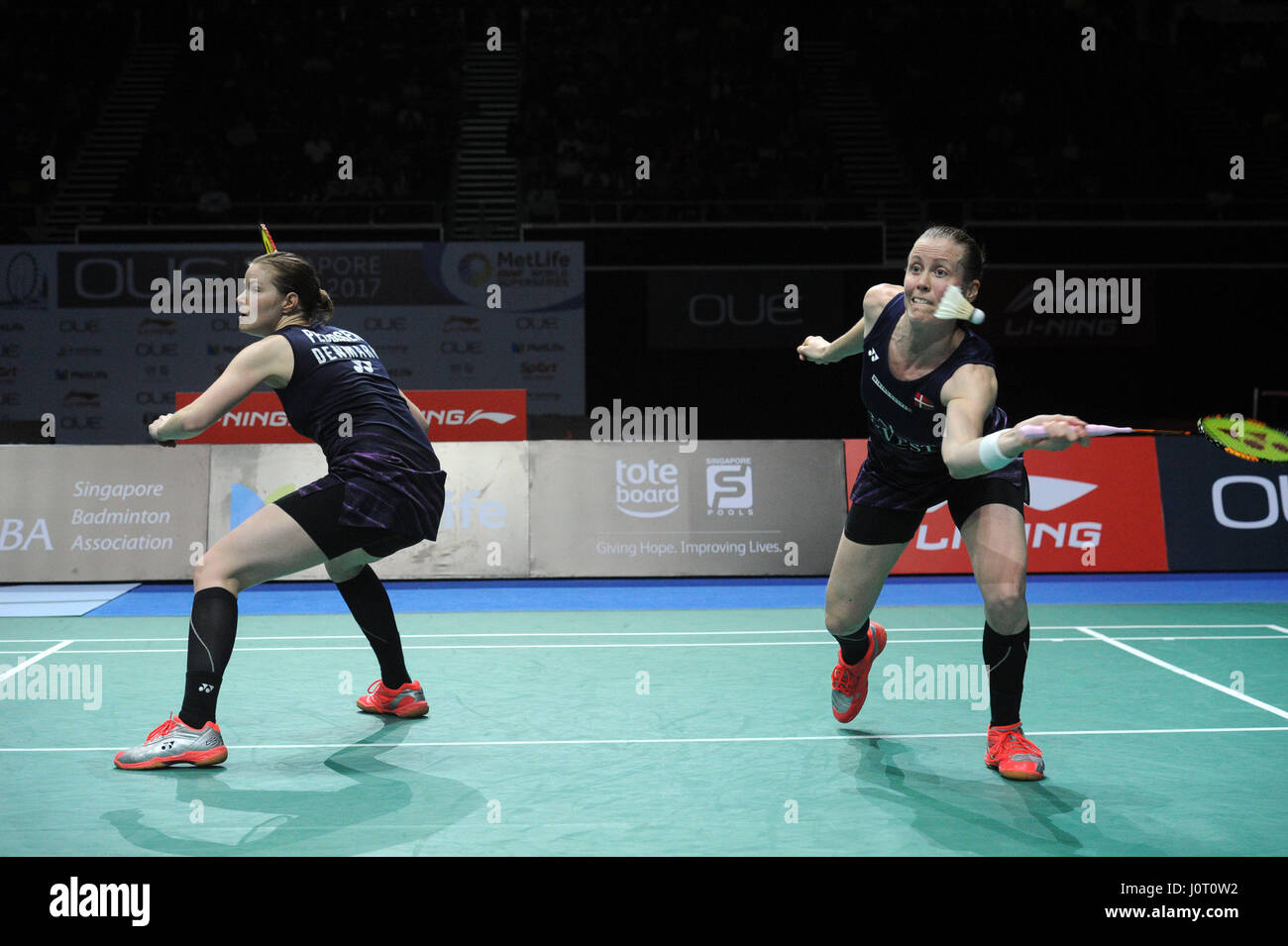 Singapore 16th Apr 2017 Denmark s Kamilla Rytter Juhl R and