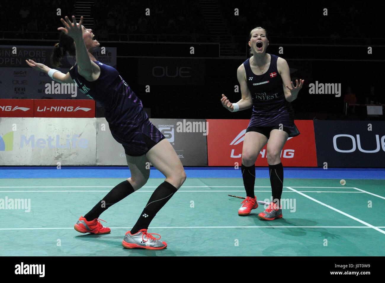 Singapore 16th Apr 2017 Denmark s Kamilla Rytter Juhl and Stock