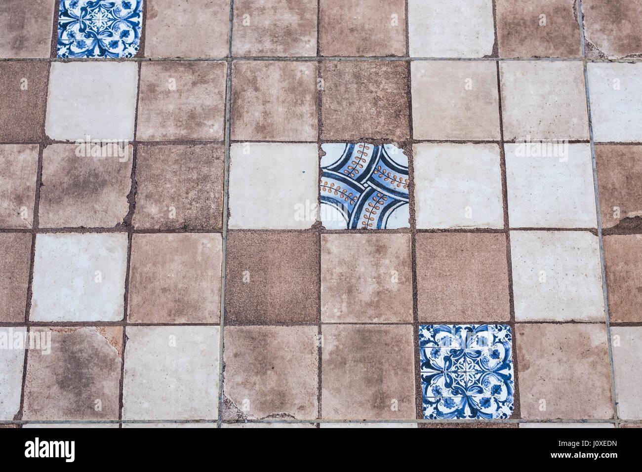 Old ceramic tile