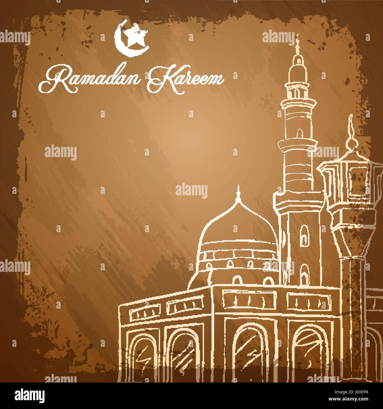 Mosque background for ramadan kareem stock photography image - Islamic Background Ink Sketch Mosque For Ramadan Kareem