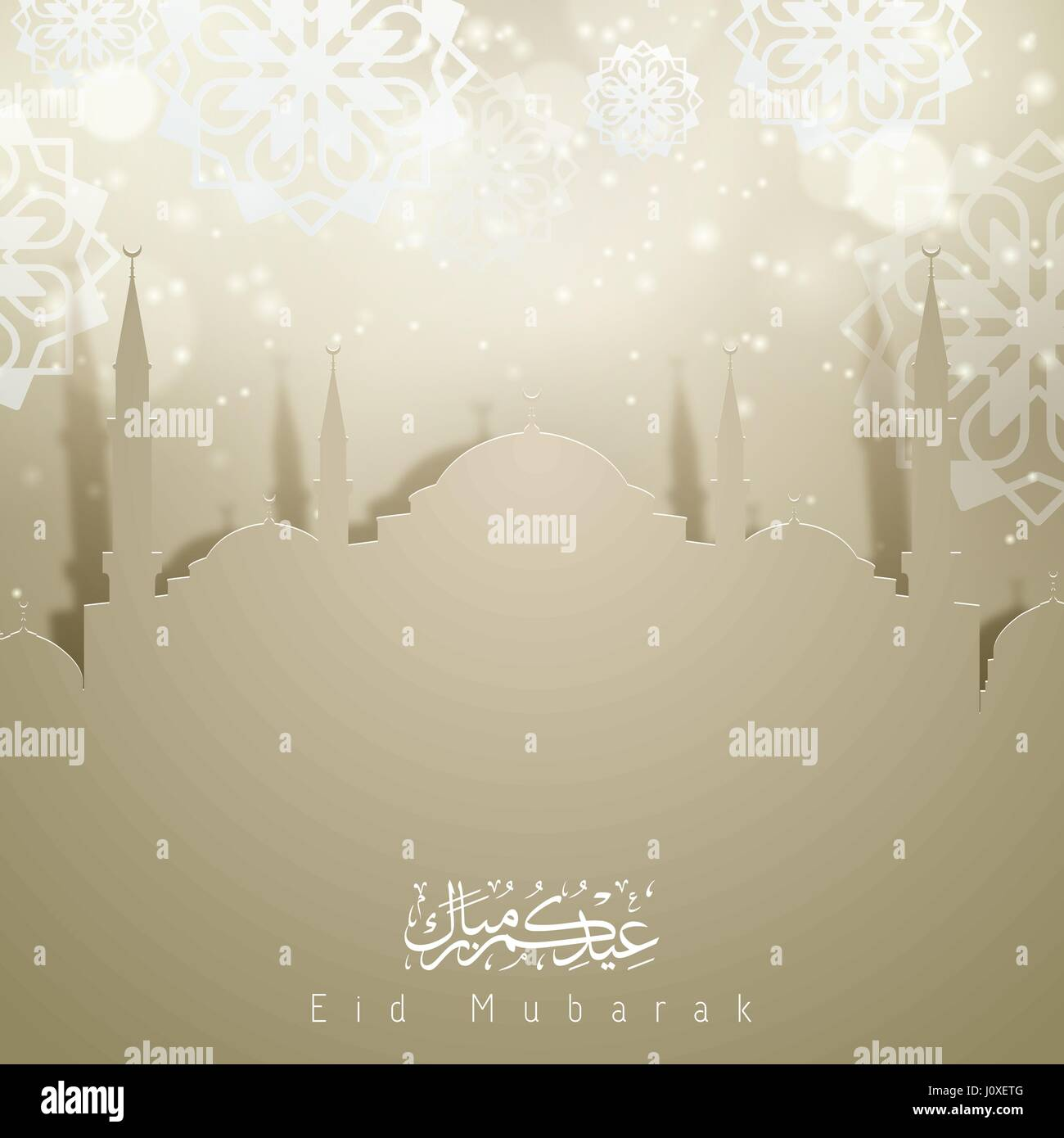 Eid mubarak greeting card background stock vector art illustration eid mubarak greeting card background kristyandbryce Choice Image