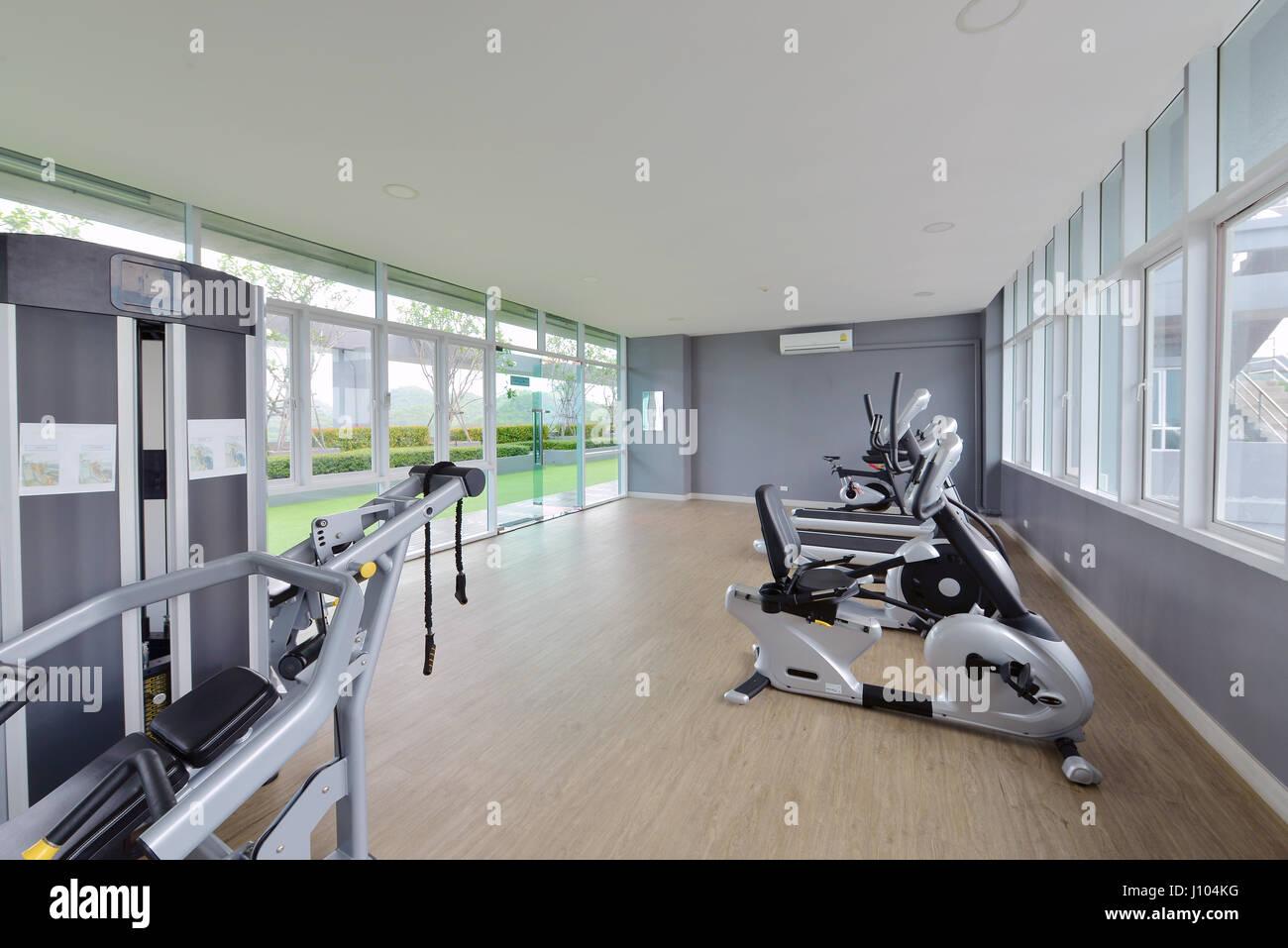 Modern Fitness Center Interior Design Luxury Gym Stock Photo Royalty Free Image 138301284 Alamy