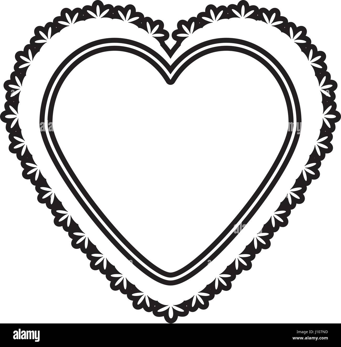 Romantic heart decoration image outline stock vector art romantic heart decoration image outline buycottarizona Image collections