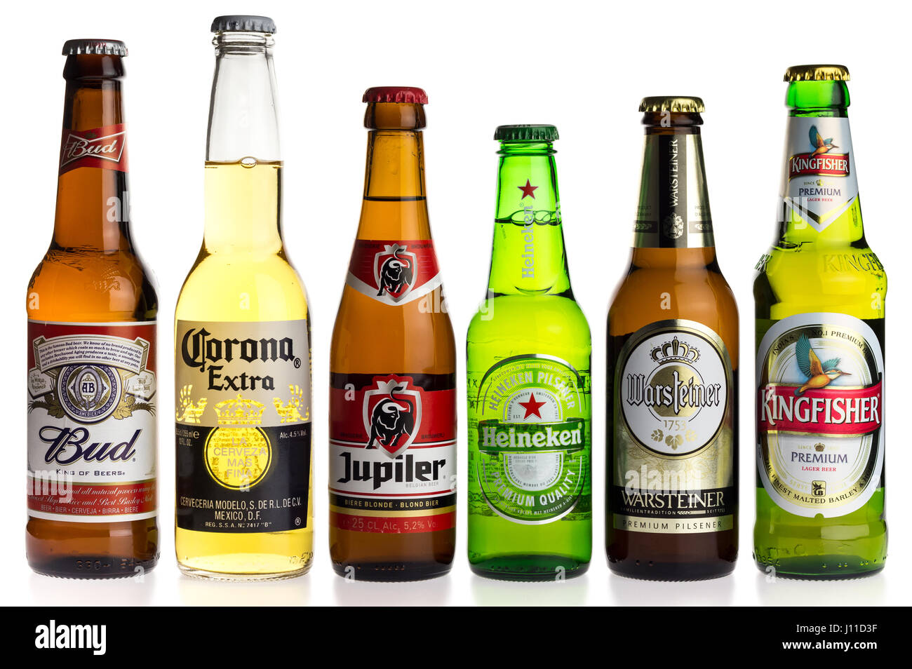 collection of budweiser corona jupiler heineken warsteiner and stock photo royalty free. Black Bedroom Furniture Sets. Home Design Ideas