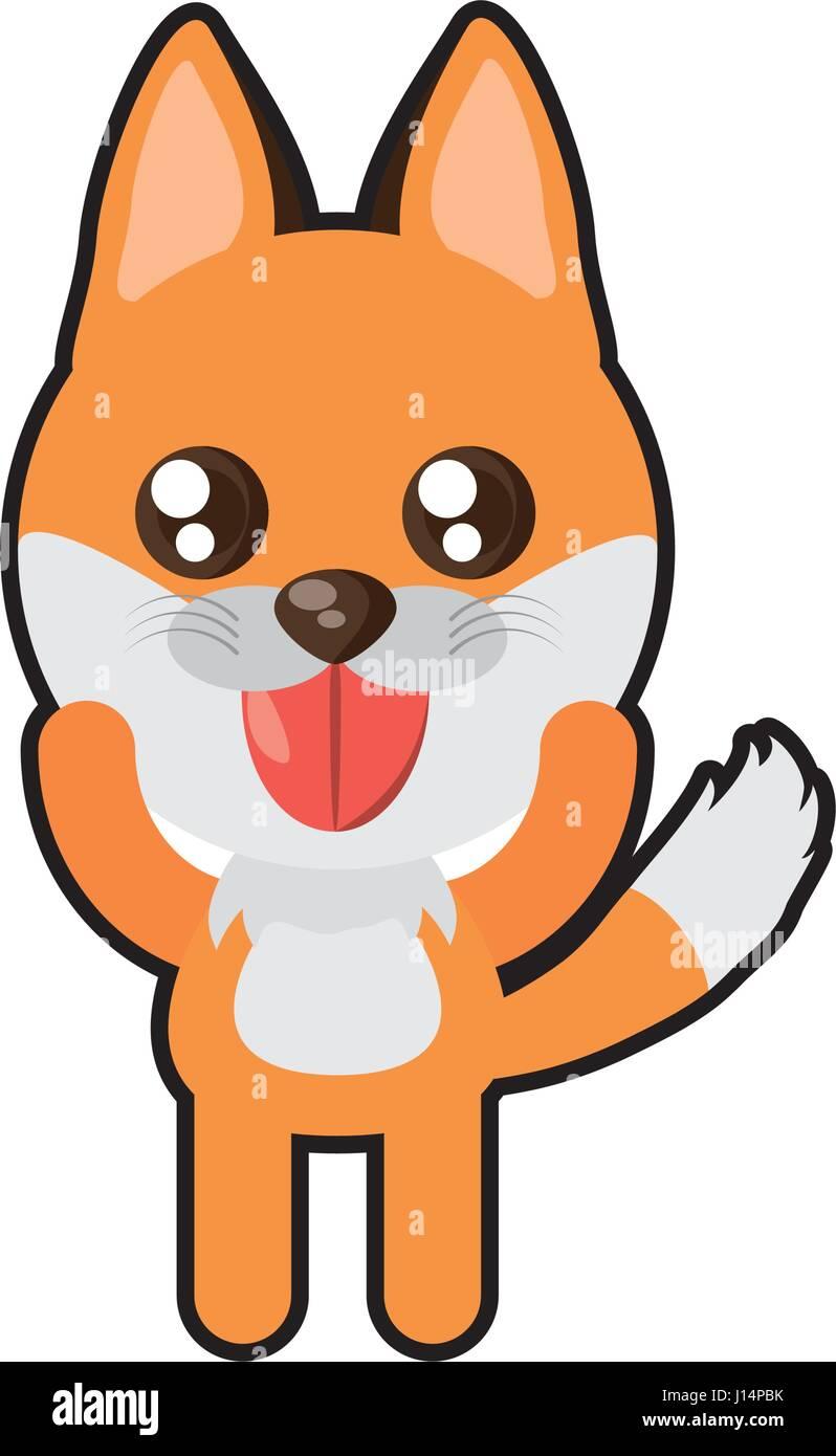 Uncategorized Kawaii Fox kawaii fox animal toy vector illustration eps 10 stock art 10