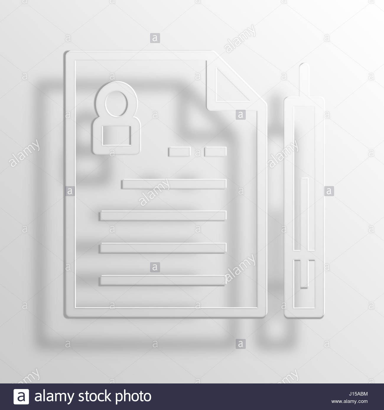resume 3d paper icon symbol business concept no 1494 stock photo