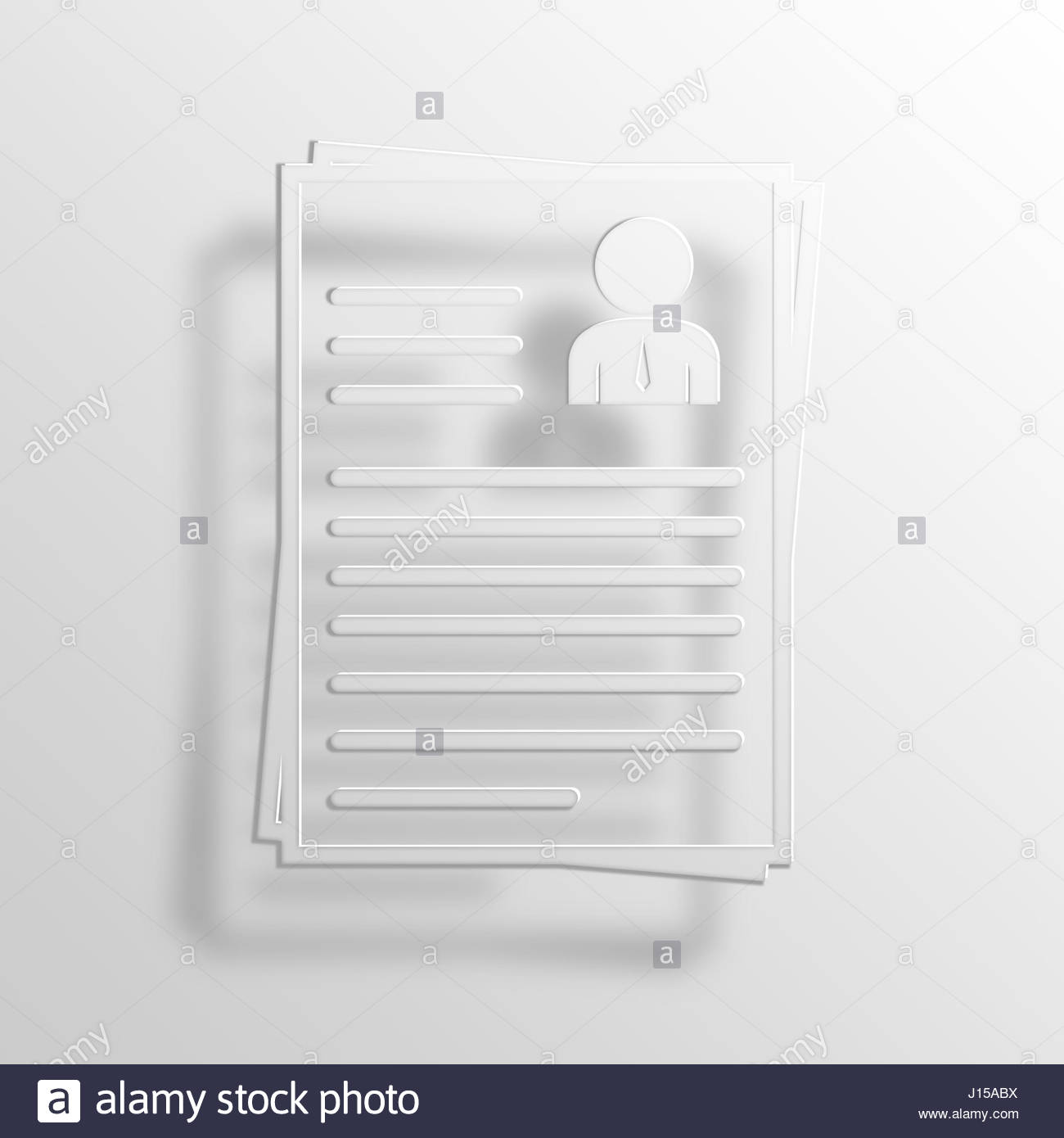 resume 3d paper icon symbol business concept no 13644 stock photo