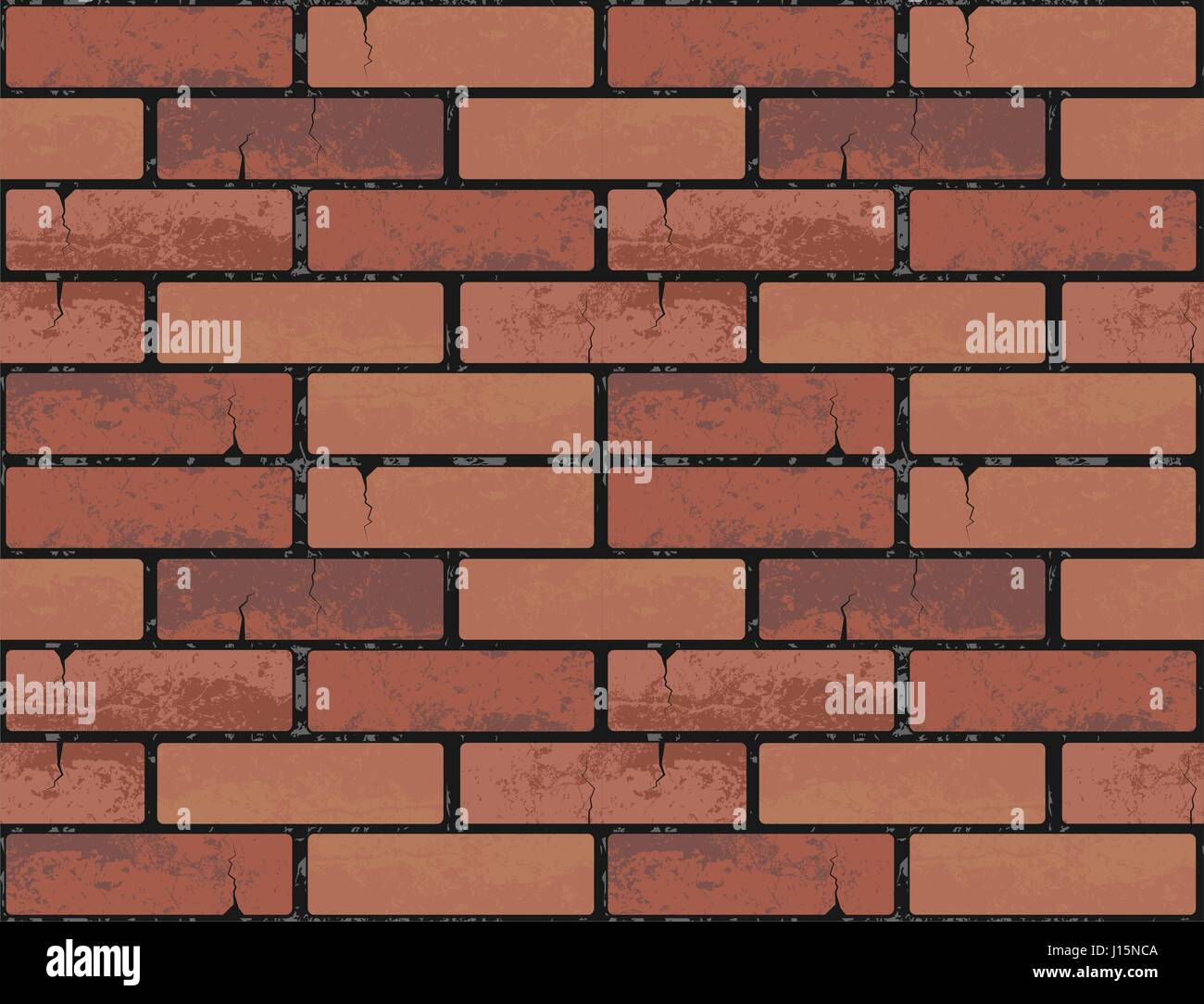 Red Brick Wall Seamless Texture Background Vector Illustration Pattern For Continuous Replicate Endless Web