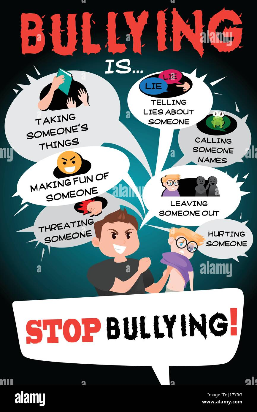 Populaire A vector illustration of Stop Bullying Poster Infographic Stock  GB67
