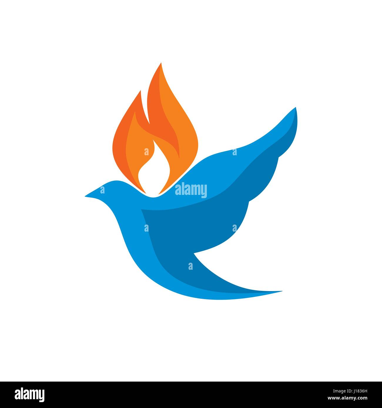 Dove and flame are symbols of the holy spirit stock vector art dove and flame are symbols of the holy spirit biocorpaavc