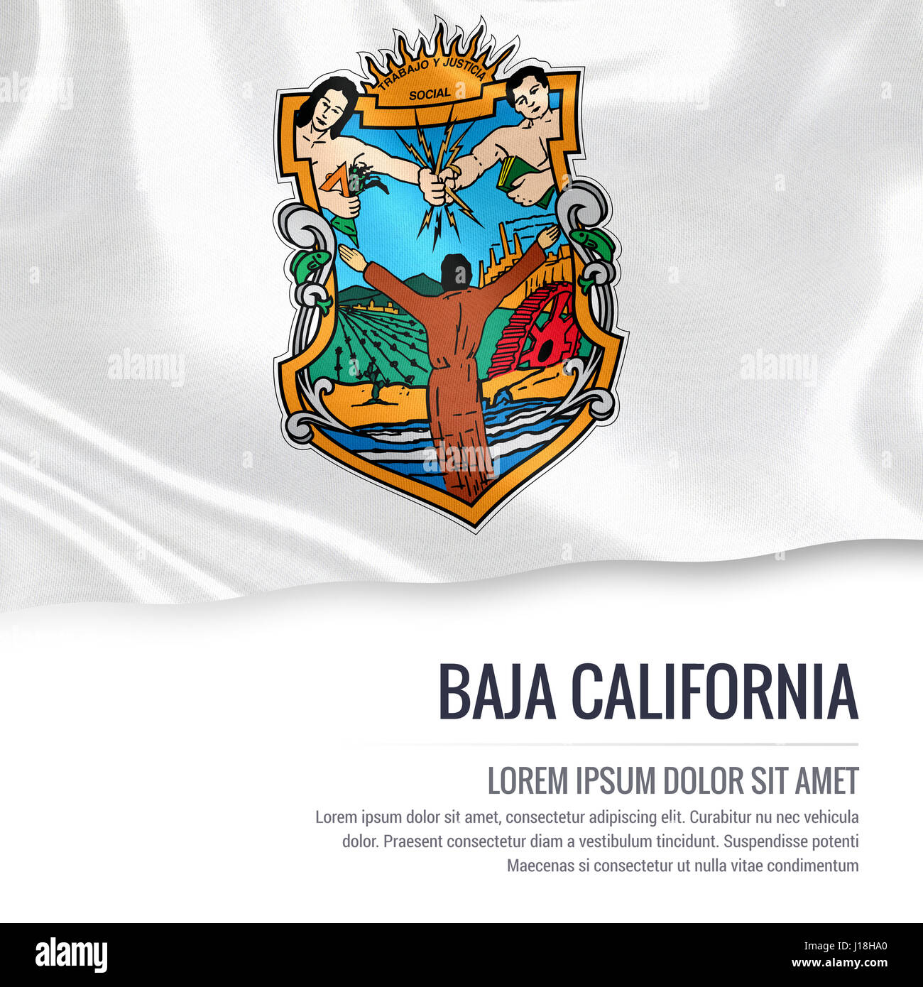 Flag of mexican state baja california waving on an isolated white flag of mexican state baja california waving on an isolated white background state name and buycottarizona
